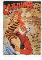 """PUBLICITE - Reproduction Affiche Ancienne  - """" Cabourg """" La Plus Belle Plage - Advertising"""