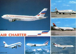 W15 /   CPSM AVION AIR CHARTER   NEUVE  VOIR DOS - 1946-....: Moderne