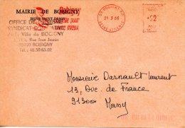 FRANCE. Enveloppe De 1986. Mairie De Bobigny. - Marcophilie (Lettres)