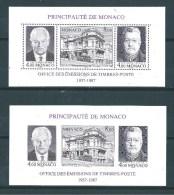 Monaco Bloc Feuillet  N°39 Et 39a  De 1987 Neuf  Sans Charnière Ni Trace (cote 63€30) - Blocks & Kleinbögen