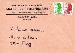 FRANCE. Enveloppe De 1985. Mairie De Bellefontaine. - Marcophilie (Lettres)