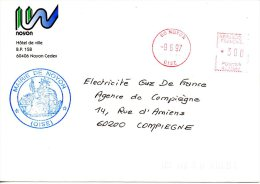 FRANCE. Enveloppe De 1997. Mairie De Noyon. - Postmark Collection (Covers)