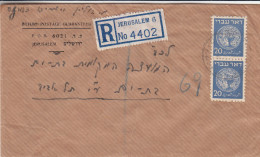Monnaies - Israël - Lettre Recommandée De 1949 - Oblitération Jerusalem - - Israel