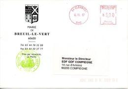 FRANCE. Enveloppe De 1997. Mairie De Breuil-le-Vert. - Marcophilie (Lettres)