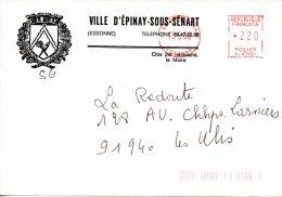 FRANCE. Enveloppe De 1986. Mairie D'Epinay-sous-Sénart. - Marcophilie (Lettres)