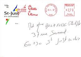 FRANCE. Enveloppe De 1997. Mairie De Saint-Just En Chaussée. - Marcophilie (Lettres)