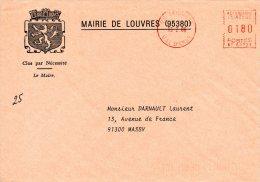 FRANCE. Enveloppe De 1986. Mairie De Louvres. - Marcophilie (Lettres)