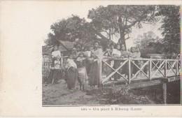 CPA LAOS Un Pont à Khong 1904 - Laos