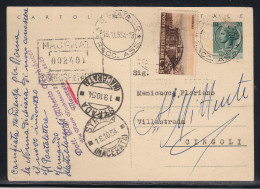 RACCOMANDATA DA MACERATA A CINGOLI - 15.10.1954. - Interi Postali