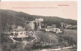 MARIENBAD (MARIANSKE LAZNE) 2249 BLICK NACH ST GEORG., CAFE BELLEVUE,CAFE SCWEIZERHOF UND CAFE MIRAMONTI 1906 - Tchéquie