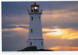 Postcard - Louisbourg Lighthouse, Nova Scotia, Canada. 2010 - Lighthouses