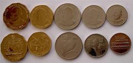 SAMOA 2011 SERIE 5 MONETE 2-1 TALA 50-20-10 SENE FDC UNC