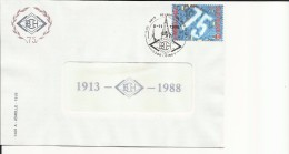 5300 Ciney  5-11-1988 -B.C.H. Timbre N° 2306 - Postmark Collection