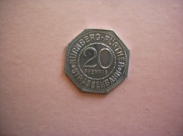 20 PFENNIG NÜRNBERG.FÜRTHER STRASSENBAHN HLGEIST SPITAL - Monétaires / De Nécessité