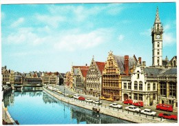 Gent - Graslei: FIAT SPIDER, FORD MUSTANG, RENAULT 4 & 4-COMBI, CITROËN 2CV AZU, VW KLEINBUS -Belgie/Belgique - Passenger Cars