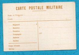 CARTE POSTALE MILITAIRE En Franchise Vierge Dos Uni. - Guerre 1939-45
