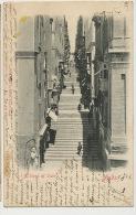 Malta  Valletta A Street Of Stairs Edit John Critien 2 Stamps Used 1902 - Malte