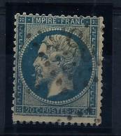 FRANCE-  VARIETE  AU N°14   A LA CIGARETTE ET FILET INFERIEUR DOUBLE A VOIR  DE PRES  LOT P2522 - 1853-1860 Napoleon III