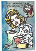 CPM LARDIE JIHEL Repassage Fer à Repasser Madonna Marilyn Monroe Tirage Limité Signé En 30 Exemplaires - Lardie
