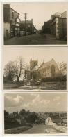 3 Real Photo Whitwell Main Street , Church, The Butcher's Arms Ann Inn - Rutland