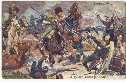 Russo Japanese War  Signed Ludwig Kosh Cosaque Kossack - Russia
