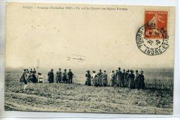 37 TOURS AVIATION 1910  Visuel Rare - Vol CHAVEZ  Sur Avion Biplan Farman  D03-2015 - Tours