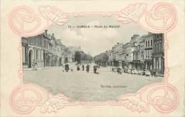 """/ CPA FRANCE 76 """"Aumale, Place Du Marché """" - Aumale"""