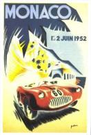 Grand Prix Automobile De Monaco 1952  -  Illustrateur  B.Minne   -  CPM - Grand Prix / F1