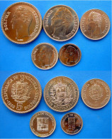 VENEZUELA SET 5 PZ  1989  1990 FDC - Venezuela