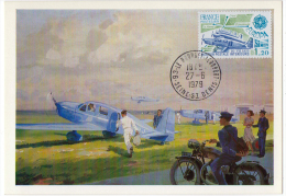 Avion Simoun Liaison Postale PTT Poste Lot 3 Cp Maximum 1979 ÉTAT SUPERBE - 1946-....: Era Moderna