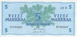 FINLAND 5 MARKKAA 1963 PICK 106A UNC - Finland
