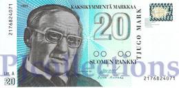 FINLAND 20 MARKKAA 1993 PICK 123 UNC - Finland