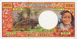 FRENCH PACIFIC TERRITORIES 1000 FRANCS 1996 PICK 2 UNC - Other - Oceania