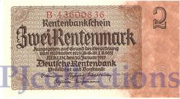 GERMANY 2 RENTENMARK 1937 PICK 174b UNC - Altri