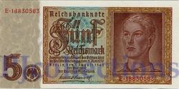 GERMANY 5 REICHMARK 1942 PICK 186a UNC - Altri