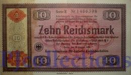 GERMANY 10 REICHMARK 1934 PICK 208 UNC - [ 4] 1933-1945 : Third Reich