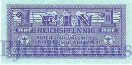 GERMANY 1 REICHPFENNING 1942 PICK M32 UNC - Altri