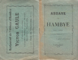 Vers 1900 - Normandie - Manche - Abbaye De Hambye Par Clouet + Pub - Livret De 16 Pp. - FRANCO DE PORT - Normandie