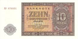 GERMANY DEMOCRATIC REPUBLIC 10 DEUTSHEMARK 1955 PICK 18 UNC - [ 6] 1949-1990 : RDA - Rep. Dem. Alemana
