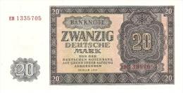 GERMANY DEMOCRATIC REPUBLIC 20 DEUTSHEMARK 1955 PICK 19 UNC - 20 Deutsche Mark