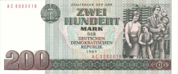 GERMANY DEMOCRATIC REPUBLIC 200 MARK 1985 PICK 32 UNC - 200 Mark
