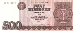 GERMANY DEMOCRATIC REPUBLIC 500 MARK 1985 PICK 33 UNC - [ 6] 1949-1990 : GDR - German Dem. Rep.