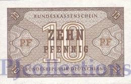 GERMANY FEDERAL REPUBLIC 10 PFENNING 1967 PICK 26 UNC - [ 7] 1949-… : RFA - Rep. Fed. Tedesca