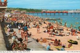 Postcard - Paignton Pier & Beach, Devon. A - Paignton