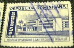 Dominican Republic 1952 Dr Salvador B Gautier Ciudad Trujillo 5c - Used - Dominican Republic