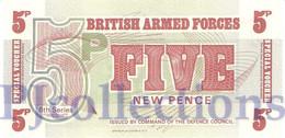 GREAT BRITAIN 5 NEW PENCE 1972 PICK M47 UNC - Autorità Militare Britannica