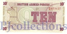 GREAT BRITAIN 10 NEW PENCE 1972 PICK M48 UNC - Autorità Militare Britannica