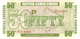 GREAT BRITAIN 50 NEW PENCE 1972 PICK M49 UNC - Emissioni Militari