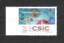 España 2015-1 Sello Nuevo ** 75 Aniversario Centro Superior Investigaciones Cientificas-Espagne Spain Spanien Spagna - 2011-... Unused Stamps