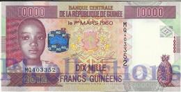 GUINEA 10000 FRANCS 2012 PICK NEW UNC - Guinée